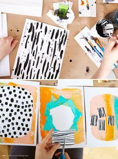 Ashley Goldberg hosts a workshop with Hallmark artists - Think. - Ashley Goldberg leads a workshop for Hallmark Cards artists - Kunstjournal Inspiration, Sketchbook Inspiration, Art Sketchbook, Diy With Kids, Art For Kids, Ecole Art, Hallmark Cards, Mark Making, Art Plastique