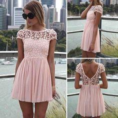 The sun is shining 🌞 Gala Dresses, Dresses For Sale, Summer Dresses, Rose Dress, Pink Dress, Women's Fashion Dresses, Dress Outfits, Stripped Dress, Mini Vestidos