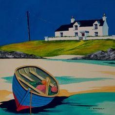 Low tide - Uig Sands<br x />acrylic British Schools, Donegal, Art Drawings Sketches, Architecture Art, Landscape Paintings, Art Ideas, Original Paintings, Ocean, Watercolor