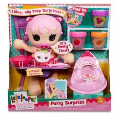 Lalaloopsy Babies Potty Surprise Doll magically poops a surprise shape on her potty! Feed Baby Jewel Sparkles baby food and when she's ready to go, place her on the potty and you'll find a surprise. Jewel Sparkles magically poops a surprise shape Lalaloopsy, Birthday Gifts For Girls, Gifts For Kids, Barbie Chelsea Doll, Baby Potty, Baby Baby, Xmas Wishes, Doll Food, Baby Alive