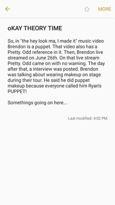 He is mad towards Ryro? Is he feeling like a puppet for the music industry? WE NEED THEORIES <<<< I don't know about all that but the I really liked the puppet makeup. bring it back pls Brendon Urie, Puppet Makeup, Ryden Ship, Band Memes, Panic! At The Disco, Emo Bands, Pop Punk, I Cant Even, Music Industry