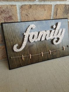 Mothers Day Quotes Discover Custom Made to Order Family String Art with hangers for pictures Bicycle String Art, String Wall Art, Nail String Art, String Art Templates, String Art Patterns, Arte Linear, Cross Art, Deco Originale, Art Decor