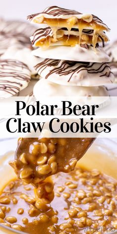 Bear Claw Cookies - Whipped It Up Polar Bear Claw Cookies from Whipped It Up. They are soooooooo tasty. Polar Bear Claw Cookies from Whipped It Up. They are soooooooo tasty. Cheap Meals, Easy Meals, Bear Claws, Yummy Food, Tasty, Homemade Vanilla, Easy Healthy Recipes, Delicious Recipes, Food For A Crowd