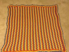 Striped Blanket from Bonnie's Story about how crochet heals