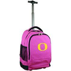 Mojo Licensing Premium Wheeled Backpack - Oregon, Pink