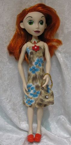KIM POSSIBLE Disney Doll Clothes #32 Dress, Purse & Beaded Necklace Set #HandmadebyESCHdesigns