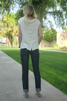 like this madewell top with a twist