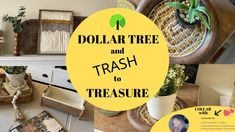 I don't think I've ever been more excited for a collab! Today's video is a Dollar Tree and Trash to Treasure mix! It's also a collab with one o. Dollar Tree Store, Dollar Tree Crafts, Dollar Stores, Ikea Shelf Hack, Dollar Tree Organization, Diy Organization, Tree Planters, Humble Pie, Trash To Treasure