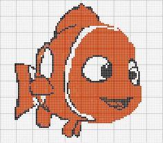 Cross Stitch Books, Cross Stitch Animals, Cross Stitch Charts, Loom Patterns, Crochet Patterns, Crochet Fish, Disney Cross Stitch Patterns, Tapestry Crochet, Plastic Canvas Patterns