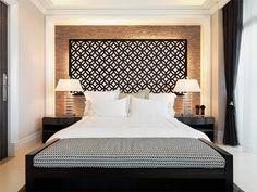 Ideias de quarto de casal com paredes diferentes