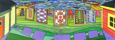 Items similar to Five Quilts X Original Painting Newfoundland Art By Artist Reilly Fitzgerald on Etsy Newfoundland, Cube, Original Paintings, Artsy, Quilts, The Originals, Crafts, Canada, Ideas