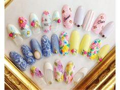 Flower gel nail catalog