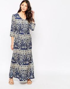 Image 1 of Brave Soul Paisley Print Maxi Dress