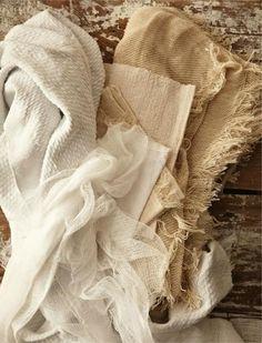 Woven linen.