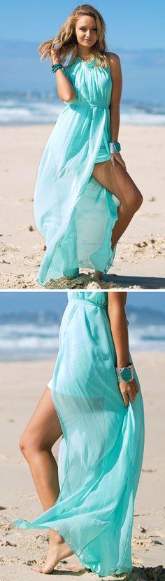 Beach Bound! Mint Maxi Dress