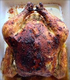 Roasted Herbs de Provence Chicken  This simple recipe is my family's favorite roasted chicken.  This is a no fail method of roasting a chicken to perfection!