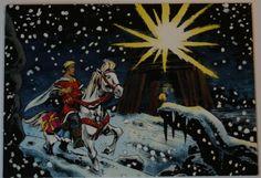 De Rode Ridder. K. Biddeloo. Kerst- en Eindejaarswens/uitnodiging. Diverse formaten. Diverse jaartallen.