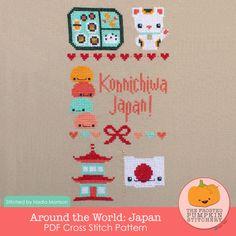 Around the World: Japan PDF Cross Stitch Pattern / The Frosted Pumpkin Stitchery