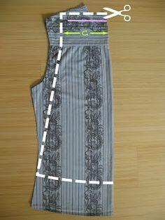 Kumaş Pantolondan Etek Yapımı-Elişi Çalışmaları