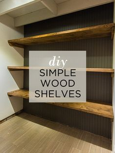 How to make these simple and inexpensive DIY large rustic wood shelving