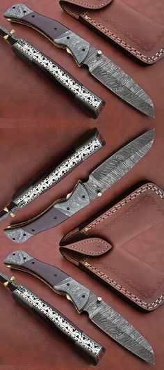 Custom Pocket Knives are also called Folding knives which are very popular For women and also called knives for hunting. survival knives or knives survivals, anniversary gift, surprise gift. Custom Pocket Knives, Personalized Pocket Knives, Engraved Pocket Knives, Folding Pocket Knife, Folding Knives, Handmade Knives, Handmade Gifts, Combat Knives, Cool Knives