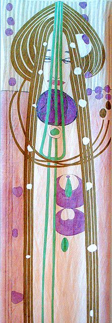 Margaret MacDonald Mackintosh Textile    From the House For An Art Lover - Belahouston, Glasgow