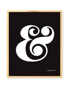 Items similar to Ampersand Print - Ampersand - Typographic Print - And Per Se And - & - Black and White - Modern Art Print on Etsy Ampersand Tattoo, Ampersand Wedding, Chic Shop, Lovely Shop, Inspirational Wall Art, Modern Art Prints, Mini Tattoos, Letter Logo, Shades Of Black