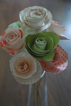 Paper flowers for valentines day or a gift kids can make