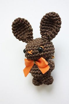 Check out this sweet little amigurumi Bunny Brooch! Cute right? Handcrafted by Artefleur