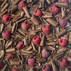 #Chocolate and #raspberry wall mural for your #homedecor #art #artforsale #wallmurals #interiordecor #interiordecorideas #interiordecortips #homedesign #decor #sweets #cake #pastry #chocolates