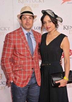 The Best (and Biggest) Hats from the Kentucky Derby: Jason Biggs doing a windowpane check.