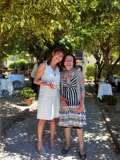 Chef  @Silvia Baracchi  at the #Ilfalconiere   and her Mama with us for lunch