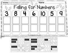 Fall literacy and math centers and printables for Kindergarten.