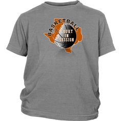 Texas Basketball Court In Session Youth T-shirt