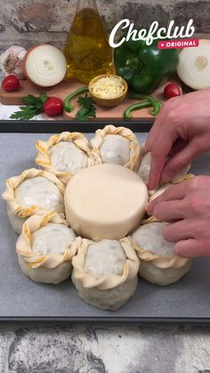 Fun Baking Recipes, Snack Recipes, Cooking Recipes, Buzzfeed Tasty, Provolone Cheese, Pizza Dough, Aesthetic Food, Food Presentation, Creative Food