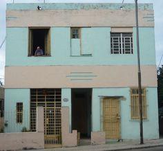 Pastel building in Cuba