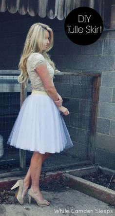 Tulle Skirt | Easy DIY Clothes | Pants & Skirts for Women