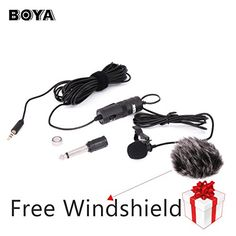 BOYA BY-M1 3.5mm Lavalier Condenser Microphone with AriMic Windscreen Windshield for iPhone 7 Plus Smartphones, Dslr, Recorder,Camcorders