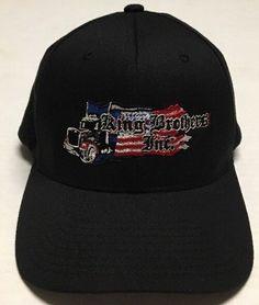 0f20b2d4d00aa Kling Brothers Inc Hat Trucking American Flag Cap Transportation Small  Medium  Yupoong  BaseballCap American