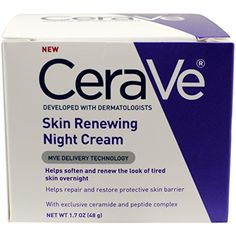 CeraVe Renewing System, Skin Renewing Night Cream, 1.7 Ou...