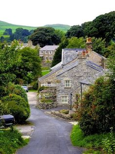 beautiful streets in Settle, England.