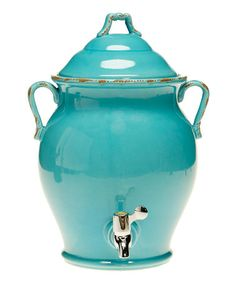 Take a look at this Teal Reactive 17-Qt. Beverage Dispenser by Certified International on #zulily today!