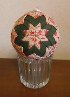 No sewing quilted ornament tutorial.  Have made these before...fun and easy.