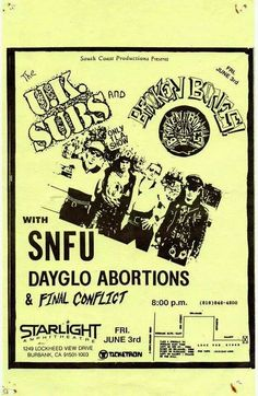 UK Subs/Broken Bones
