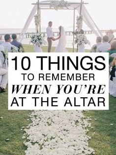Lauren, These are some great things to remember! One thing that Aunt Jeanette had told me was to look at the groom. It adds to the romance of the event.