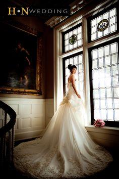 Wedding Dress, Long train, Window, Natural sunlight, Hycroft Manor (THIS IS IT !!)