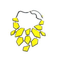 Yellow Stone Bib Necklace (Inspired by Minnie Driver on Modern Family)