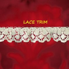 4-1/4 YARDS, CREAM Ruffle Lace Sewing Trim, Scallop Edge, Double Circles, 3/4 Inch Wide, L323 by DartingDogCrafts on Etsy