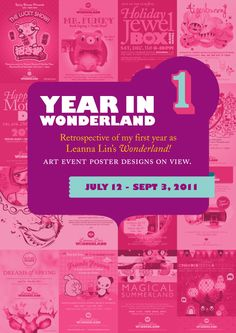 Year In Wonderland presenting graphic posters designed by Luis Jaime of 88 Phases