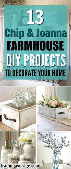 Are you looking for Farmhouse Decor projects, inspired by Chip and Joanna Gaines? This article will give you 13 amazing DIY Farmhouse projects that you will love!